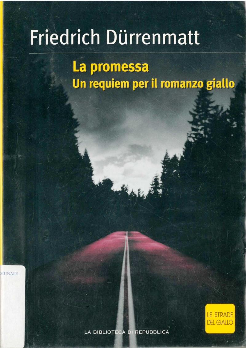 copertina La promessa : un requiem per il romanzo giallo