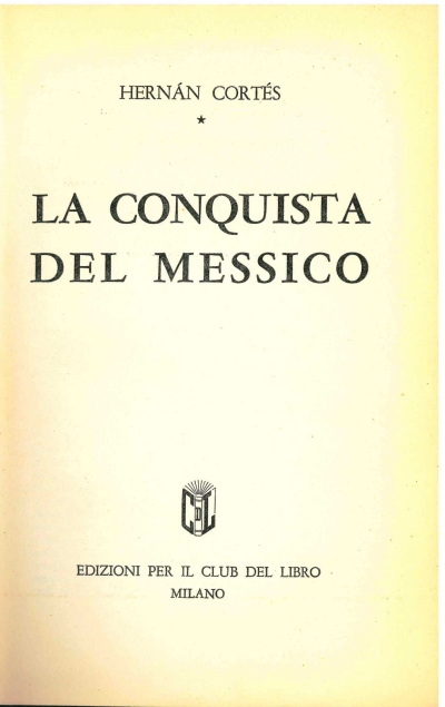 copertina La conquista del Messico