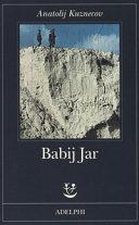 copertina Babij Jar