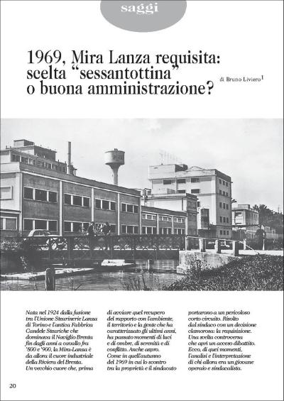 """copertina 1969, Mira Lanza requisita : scelta """"sessantottina"""" o buona amministrazione?"""