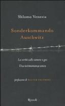 copertina Sonderkommando Auschwitz