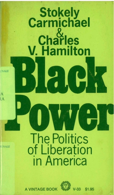 copertina Black Power : the politics of liberation in America