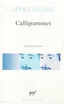 copertina Calligrammes : poèmes de la paix et de la guerre (1913-1916)